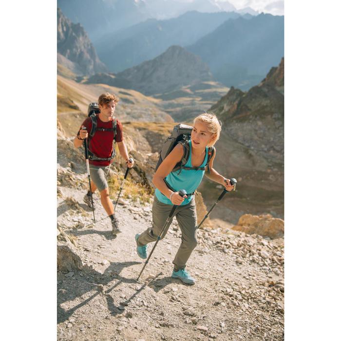 Afritsbroek voor bergtochten dames MH550 kaki