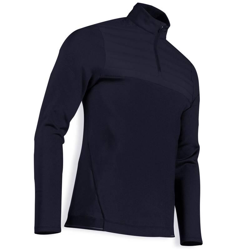 PÁNSKÉ GOLFOVÉ OBLEČENÍ DO CHLADNÉHO POČASÍ Golf - FLEECOVÁ MIKINA CW500 MODRÁ INESIS - Golfové oblečení