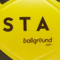 Balón de fútbol de espuma Ballground 500 T4 amarillo y negro