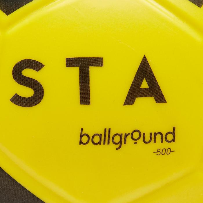 Ballon de football en mousse Ballground 500 T4 jaune et noir