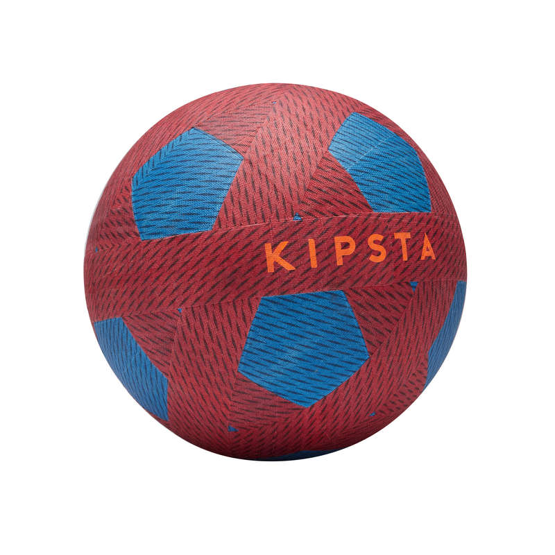 LEASURE FOOTBALL BALLS Football - Ballground 100 - Red and Blue KIPSTA - Football Equipment