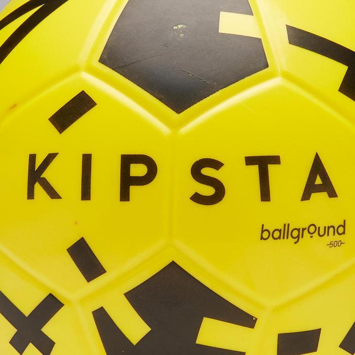 Voetbal Ballground 500 maat 4 geel en zwart