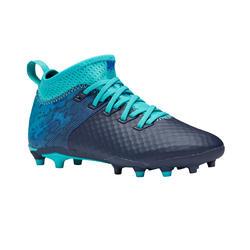 Voetbalschoenen kind Agility 900 mesh mid FG blauw/turkoois