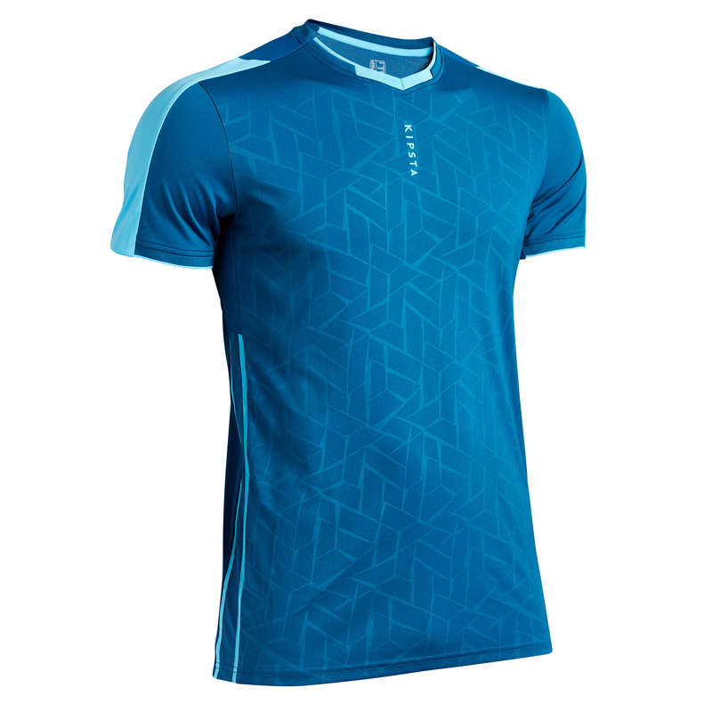 AD WARM WEATHER OUTFIT MATCH & TRAINING Football - Adult F540 - Blue KIPSTA - Football Clothing