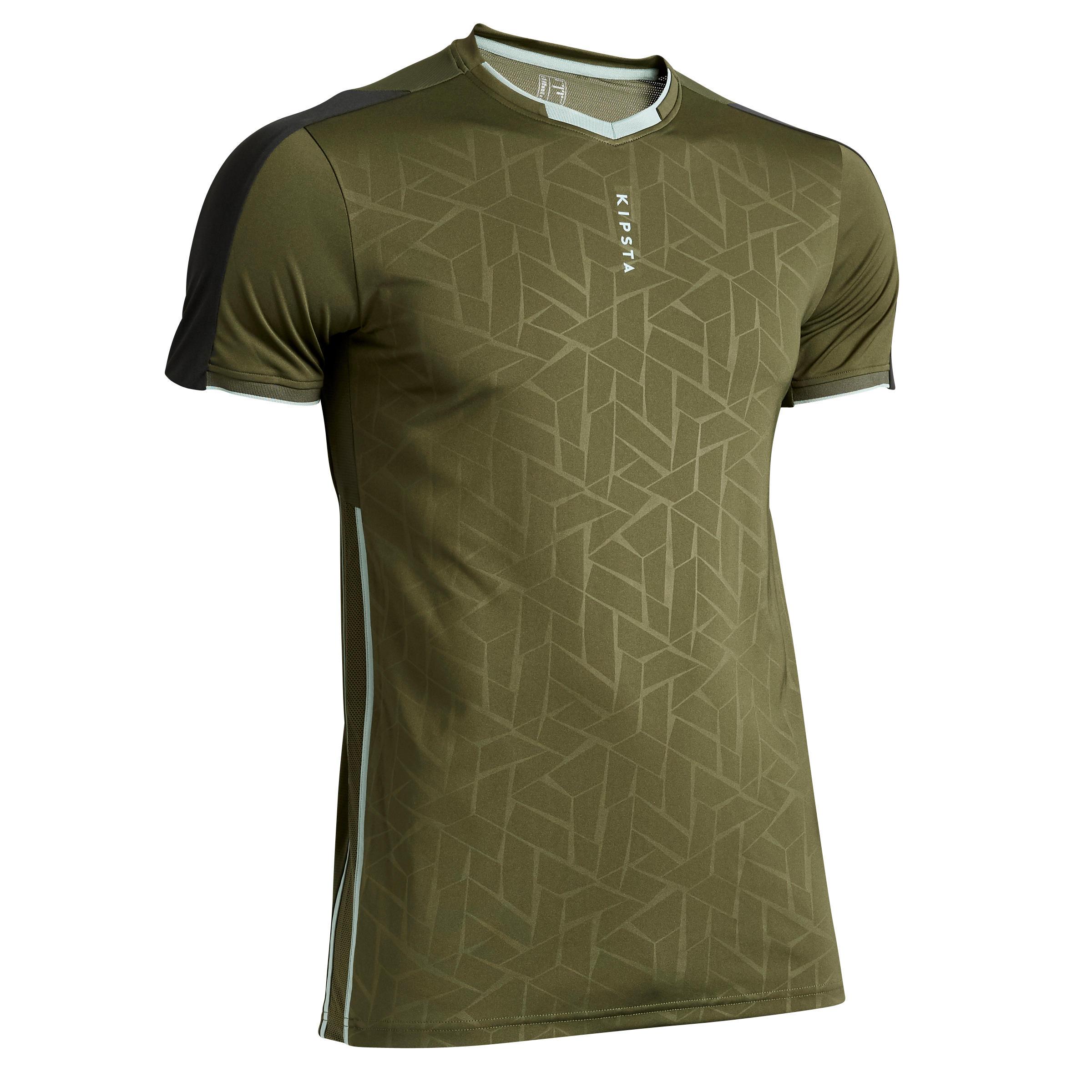 Fußballtrikot F540 Erwachsene khaki   Sportbekleidung > Trikots > Fußballtrikots   Grün - Khaki   Kipsta