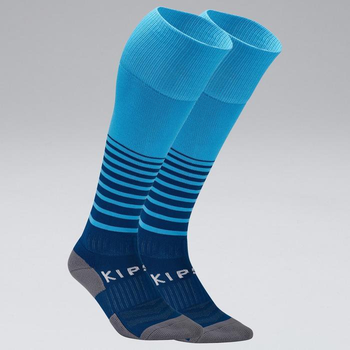Chaussettes de football adulte F500 bleu vif