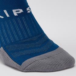 成人款足球襪F500 - 淺碧藍色與藍色配色