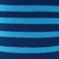 Chaussettes de football adulte F500 bleu turquoise
