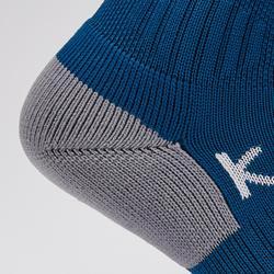 Chaussettes de football adulte F500 bleu de Prusse