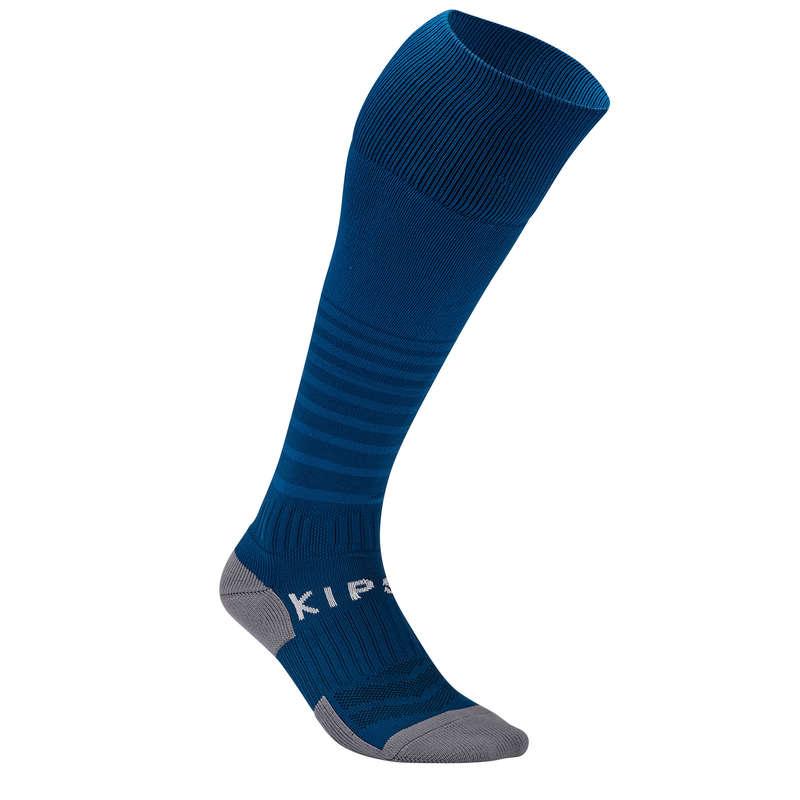 ADULT FOOT SOCKS Football - Adult F500 - Petrol Blue KIPSTA - Football Clothing