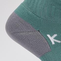 Chaussettes de football adulte F500 vert de gris EXCLUSIVITÉ WEB