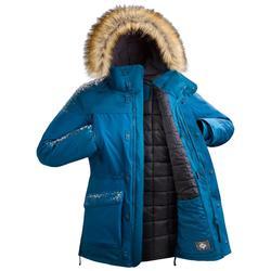 男款極致保暖雪地健行外套SH500-藍色。