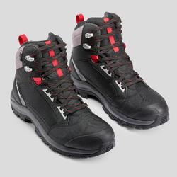 bottes de randonnée neige homme SH520 x-warm mi-hauteur noires.