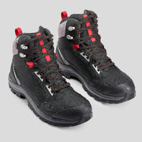 Men's warm waterproof MID snow hiking boots - SH520 X-WARM