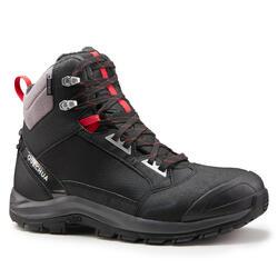 男款超保暖雪地健行中筒靴SH520-黑色