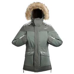 Men's Snow Hiking Jacket SH500 Ultra-Warm - Khaki.