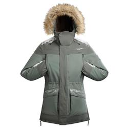 Men's Warm Waterproof Snow Hiking Parka SH500 Ultra-Warm - Khaki.
