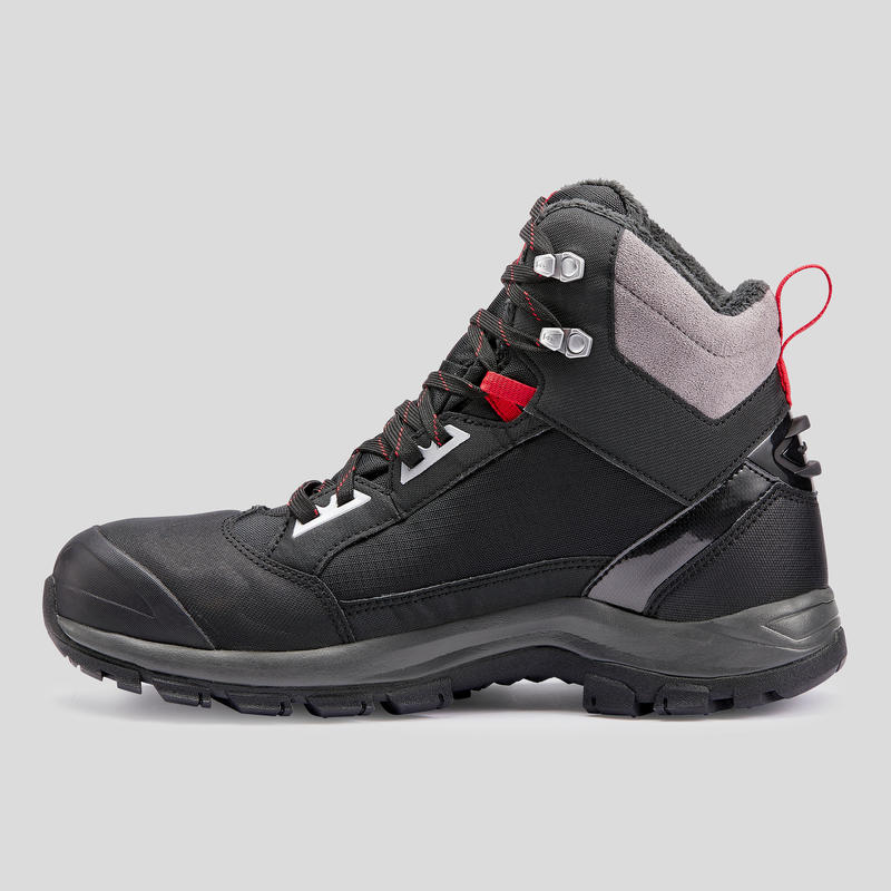 Men's Snow Hiking Shoes (Mid Ankle) SH520 X-warm - Black
