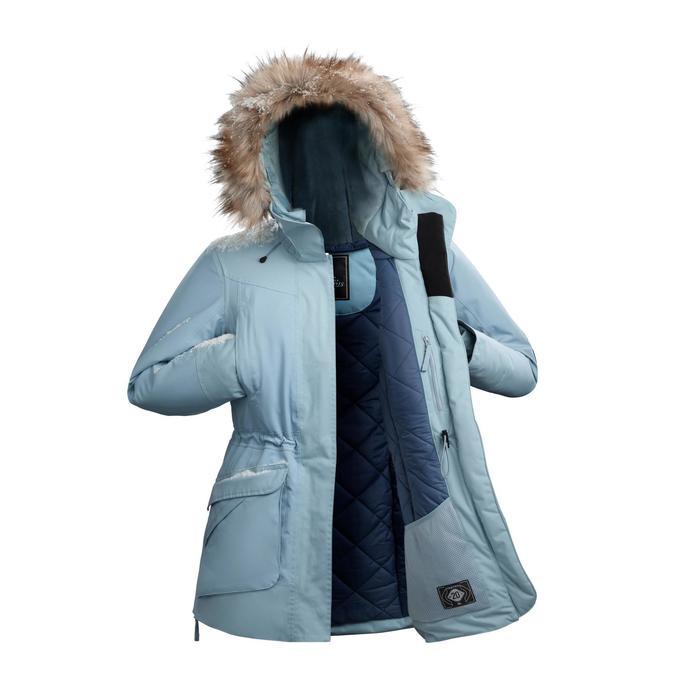 Winterjacke Parka Winterwandern SH500 Ultra-warm Damen ice-blau