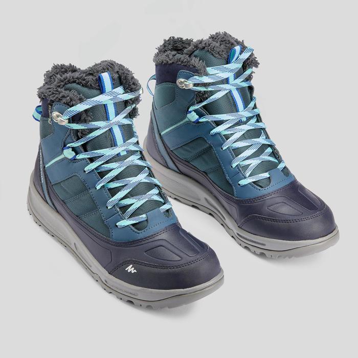 Winterschuhe SH120 Warm Halbhoch Damen blau