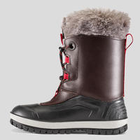 Kids Winter Hiking Boots Leather SH500 X-Warm - Brown
