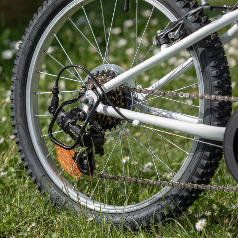 Rockrider ST 120 Kids' 20-Inch 6-9 Years Mountain Bike - White/Blue