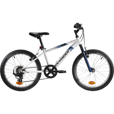 Rockrider ST 120 Kids' 20-Inch 6-9 Years Mountain Bike - White/Blue