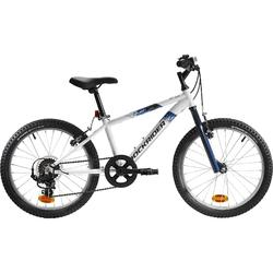 Mountainbike Kinderfahrrad 20 Zoll Rockrider ST120 weiß/blau
