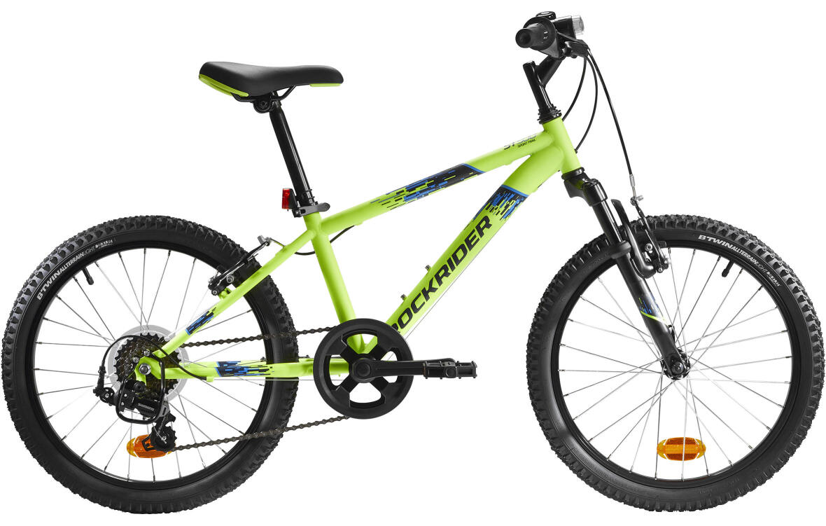 "_20""_pouces_decathlon_jaune_fluo-rockrider-mountain-bike"