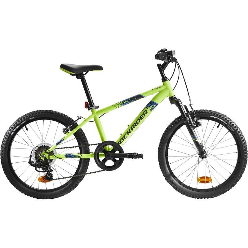 Rockrider ST 500 Kids' 20-Inch Mountain Bike Ages 6-9 - Neon Yellow