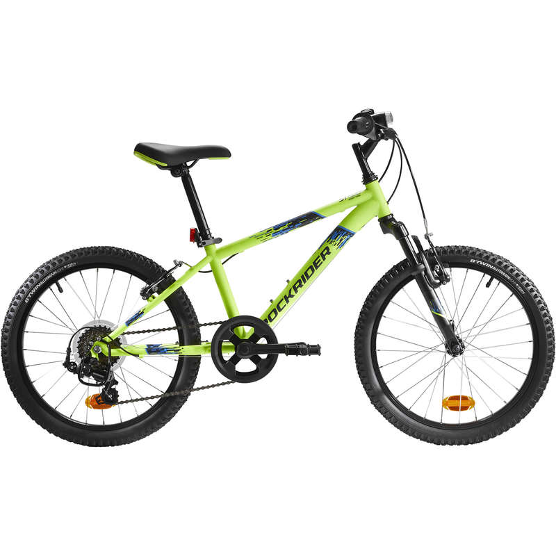 KIDS MTB BIKES 6-12 YEARS Cycling - Rockrider ST 500 Kids Mountain Bike, Yellow - 20