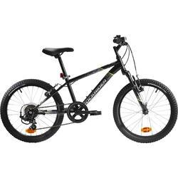 Kinder mountainbike Rockrider ST 500 20 inch jongensfiets zwart 1.20 tot 1.35m