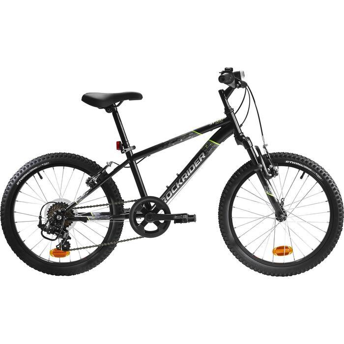 Mountainbike Kinderfahrrad 20 Zoll Rockrider ST 500 schwarz