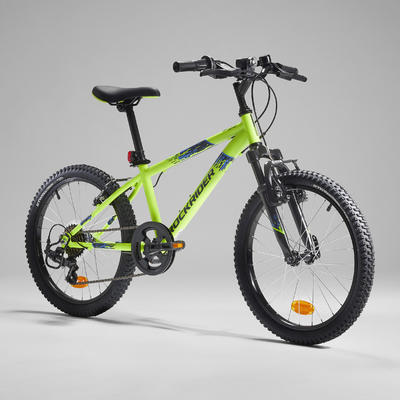 Rockrider ST 500 Kids' 20-Inch Mountain Bike Ages 6-9 - Neon Yellow