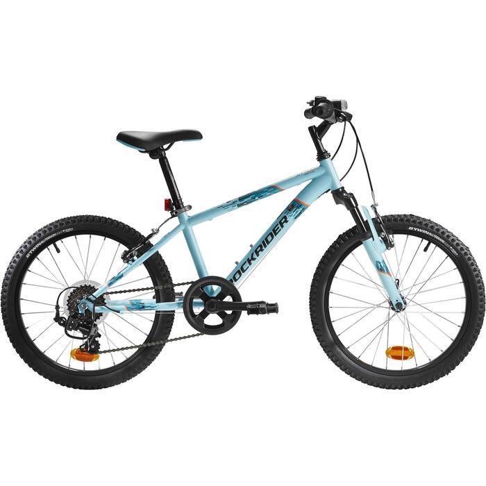 Mountainbike Kinderfahrrad 20 Zoll Rockrider ST500 blau