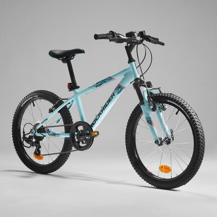Mountainbike Rockrider ST 500 20 inch voor kinderen 6-9 jaar blauw