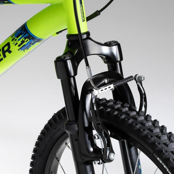 Mountainbike Rockrider ST 500 20 inch voor kinderen 6-9 jaar fluogeel
