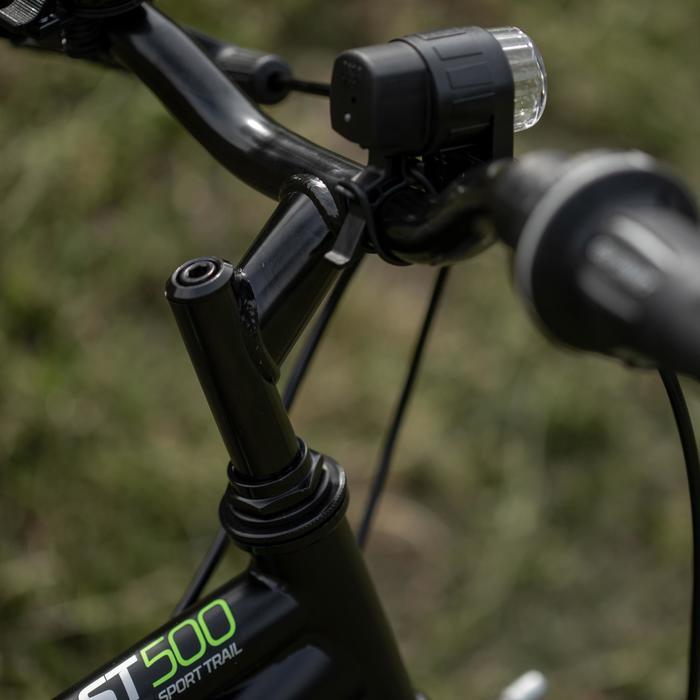Mountainbike Rockrider ST 500 20 inch voor kinderen 6-9 jaar zwart