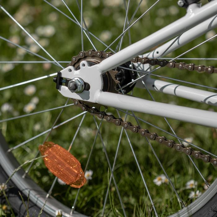 Mountainbike voor kinderen 6-9 jaar Rockrider ST 100 20 inch wit