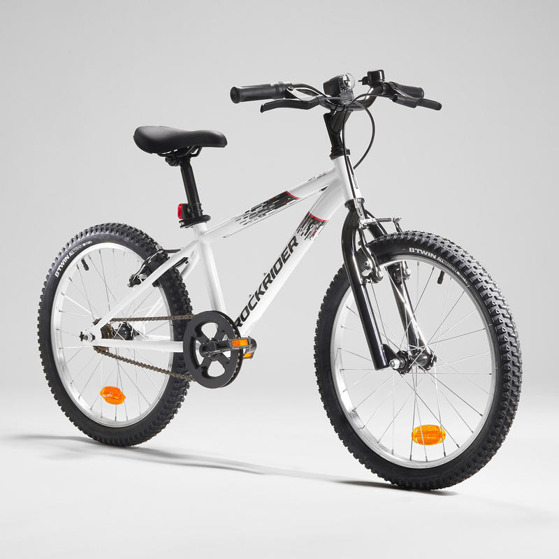 Rockrider ST 100 Kids' 20-Inch 6-9 Years Mountain Bike - White