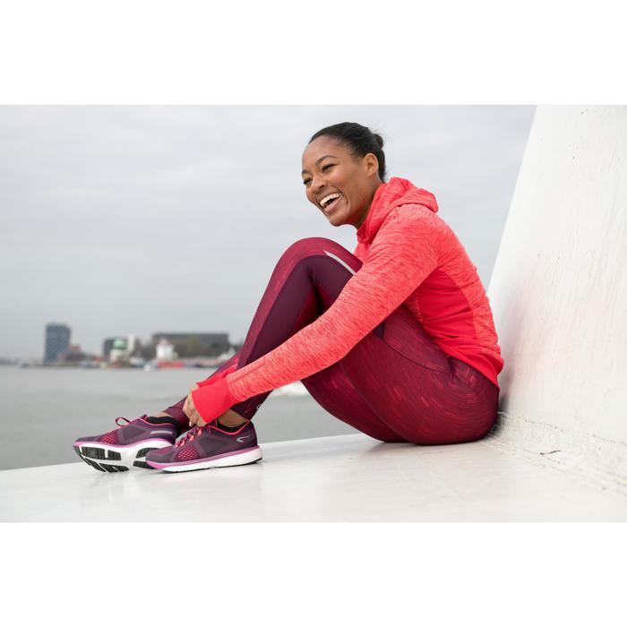 Mallas Térmicas Leggings Deportivos Running Kalenji Run Dry+ Mujer Violeta