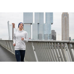 Laufjacke Run Warm Kapuze Damen grau