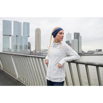 女款連帽外套RUN WARM - 灰色