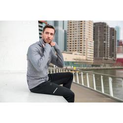 Hardloopsweater voor heren met hoge kraag Run Warm+ gemêleerd grijs