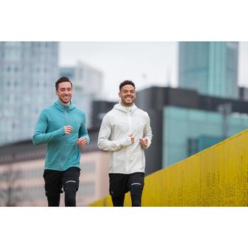 Veste jogging homme RUN WARM+ beige