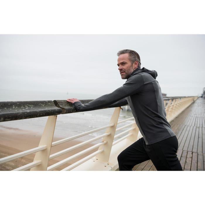 Veste jogging homme RUN WARM+ gris chiné