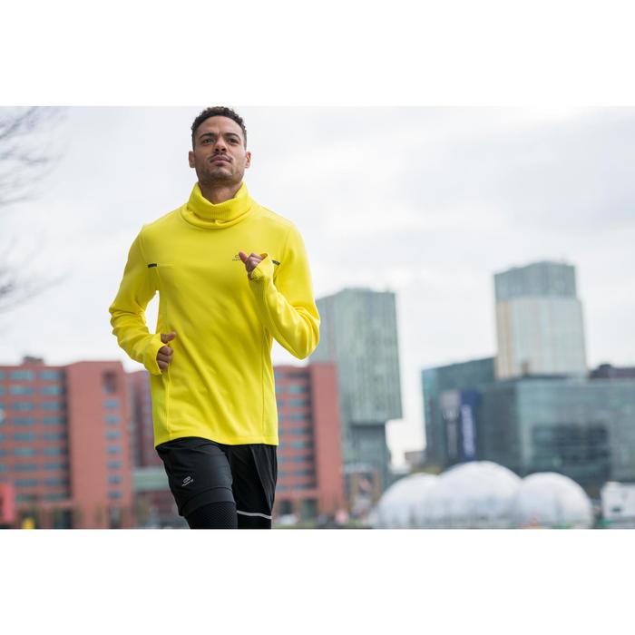 Sweat col montant jogging homme RUN WARM+ Jaune
