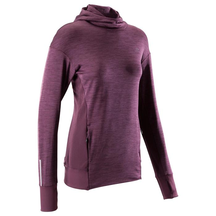 RUN WARM HOODED WOMEN'S JERSEY - PURPLE