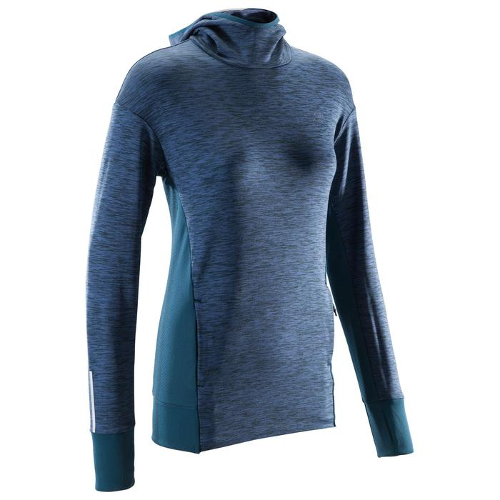 RUN WARM HOODED WOMEN'S JERSEY - PETROL