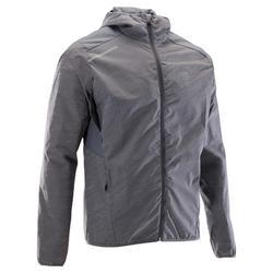 男款跑步外套RUN RAIN灰色